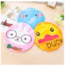 New Cute Cartoon Animal Print Lace Elastic Waterproof Shower Cap For Women Children Bathroom Products Bathing Cap Hat(China (Mainland))