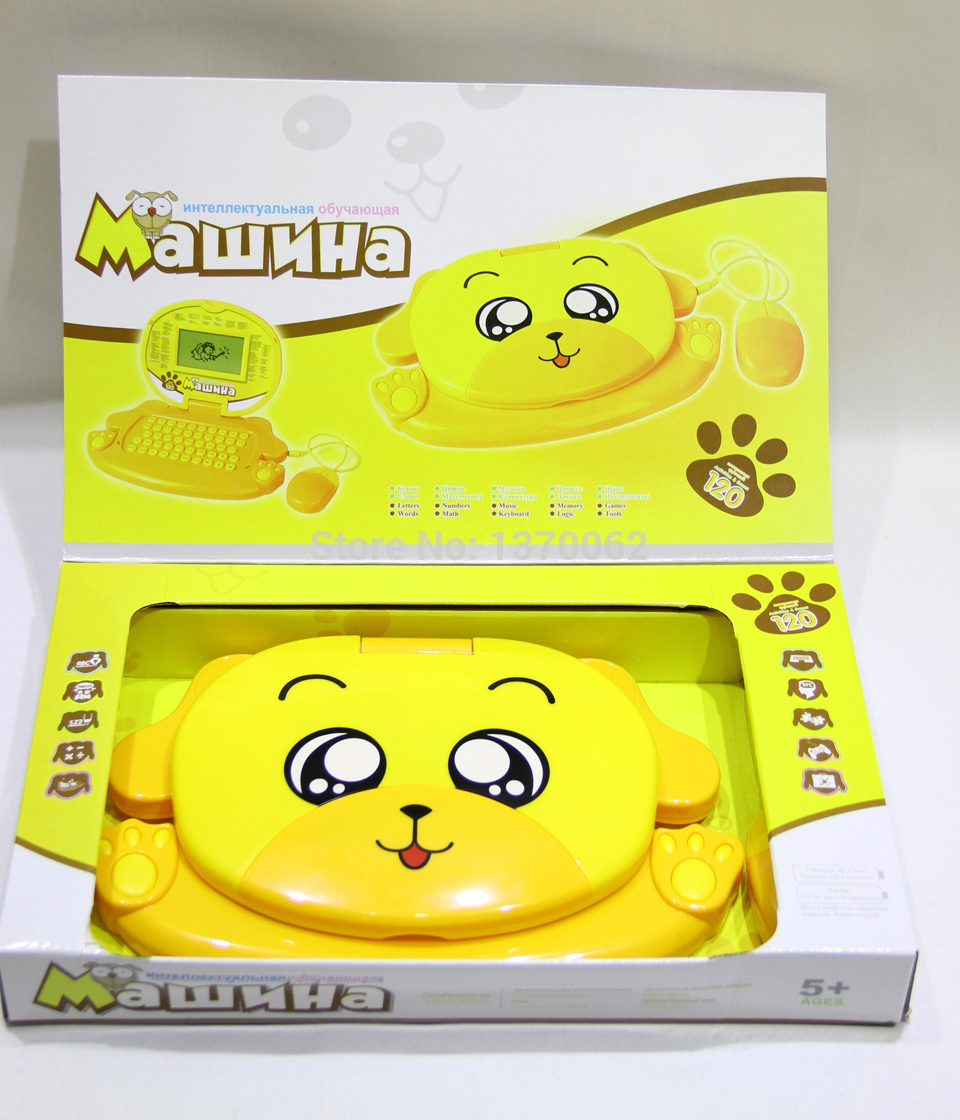 High Quality Russian and English Language 2014 New aArrival Kids Learning Machine Study Educational Toy Laptop Brinquedos(China (Mainland))