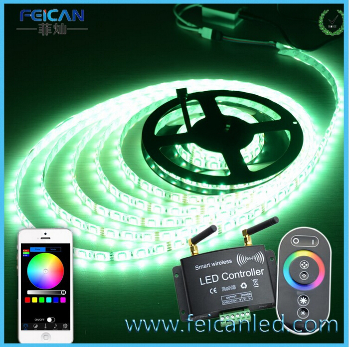 Free shipping wifi RGB 3Channel led controller with RF Wireless remote controller(China (Mainland))