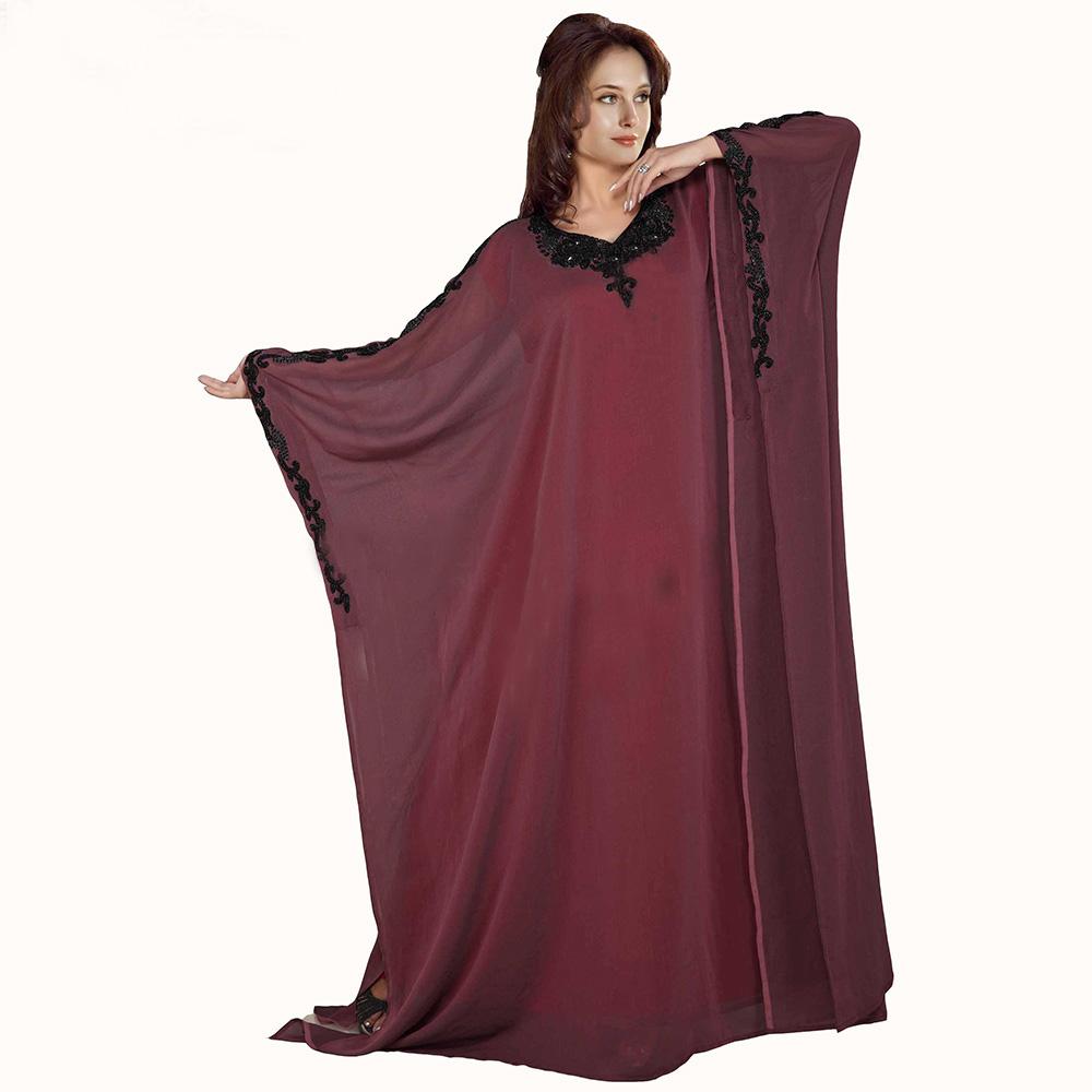 e5145 vestidos chiffon dubai abaya