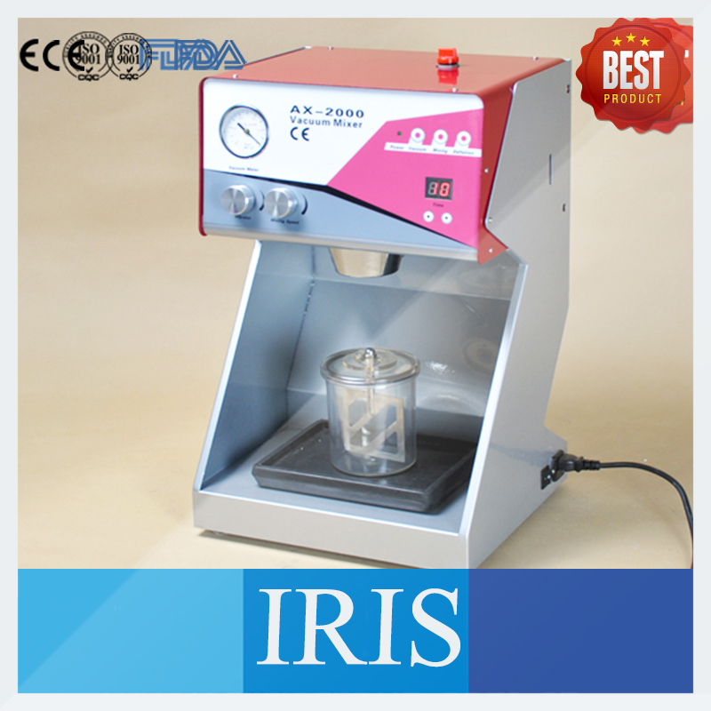New CE Approved Vacuum Mixer Dental Laboratory Equipment AX-2000C+ For Mix Plasters Investments Silicones Vacuum Mixer(China (Mainland))