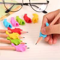 10 Pcs / Pack Cute Dolphin Holding Pen To Correct Student Writing Posture Stationery