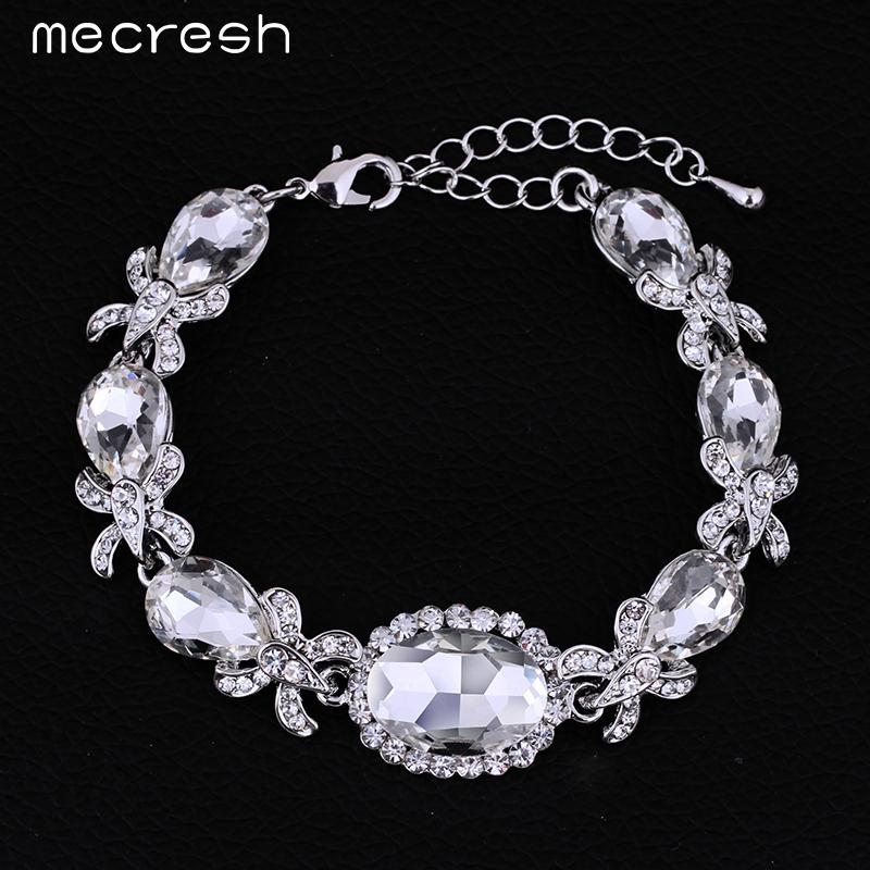 Bridal Flower Bracelet : Aliexpress buy mecresh exquisite bracelet top