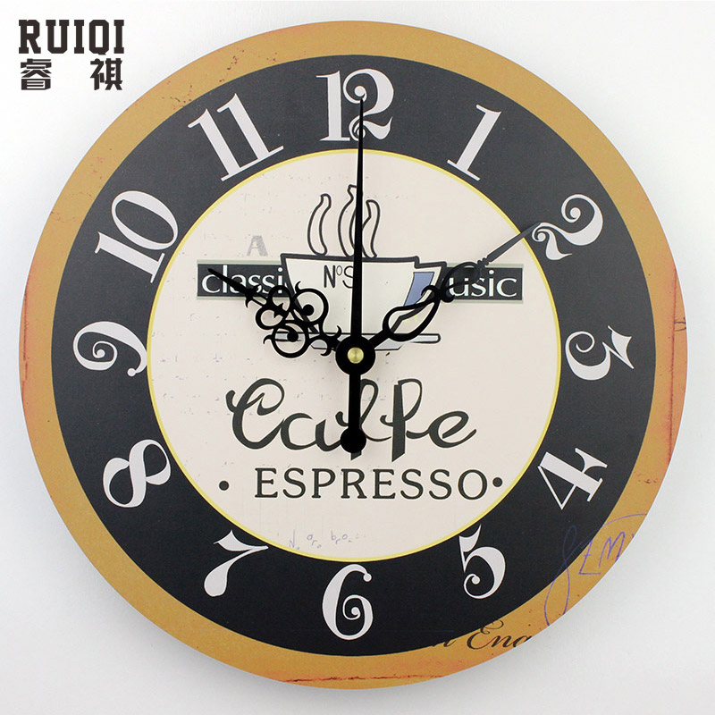 Fashion Coffee Wall Clocks Absolutely Silent Wall Clock