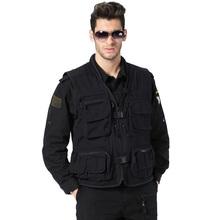 New Mesh Lined Ventilated Colete Masculino Outdoor Men Black Multi-pocket Photography Safari Waistcoat Hunting Vest Gilet(China (Mainland))