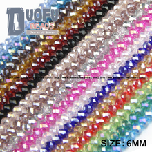High quality 6mm 50pcs AAA Round Shape Upscale Austrian crystal beads loose rondelles glass ball supply bracelet Jewelry DIY NEW