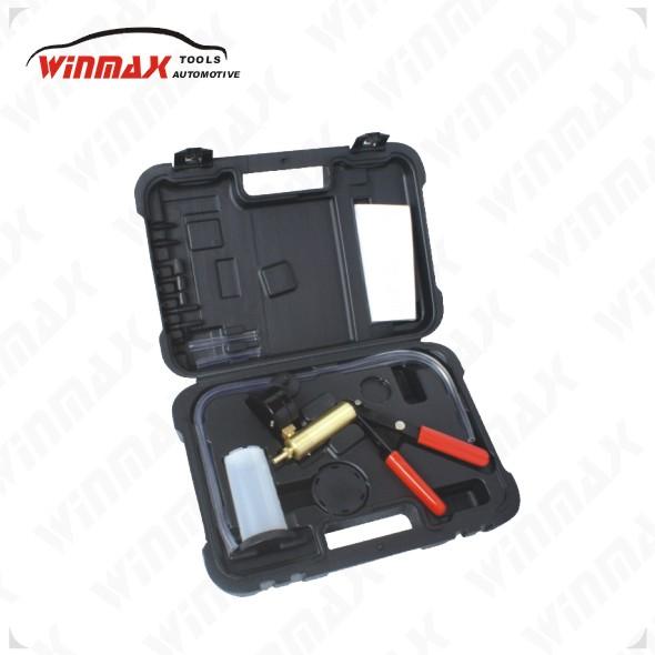 WINMAX Hand Held Reverse Brake Bleed Kit Bleeder Set Vacuum Pump Car Bike Auto Tester WT04099(China (Mainland))