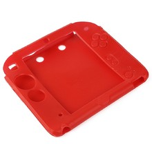 2015 New Fashion Silicone Protective Rubber bumper Gel Skin Soft Case Cover for Nintendo 2DS Red Soft Shell
