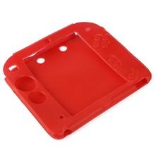 CALIENTE de la Nueva Cubierta de la Caja de parachoques de La Piel Del Gel De Goma Suave de Silicona Protectora para Nintendo 2DS Cáscara Suave de Color Rojo
