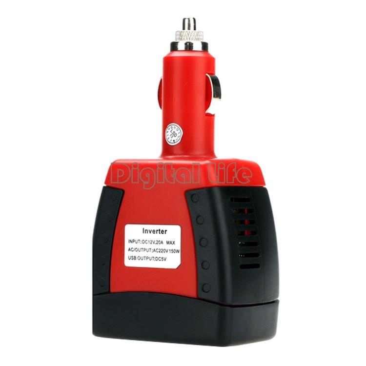 Practical 150W Car Inverter Charger Adapter 12V DC 110V/220V AC 5V USB 25