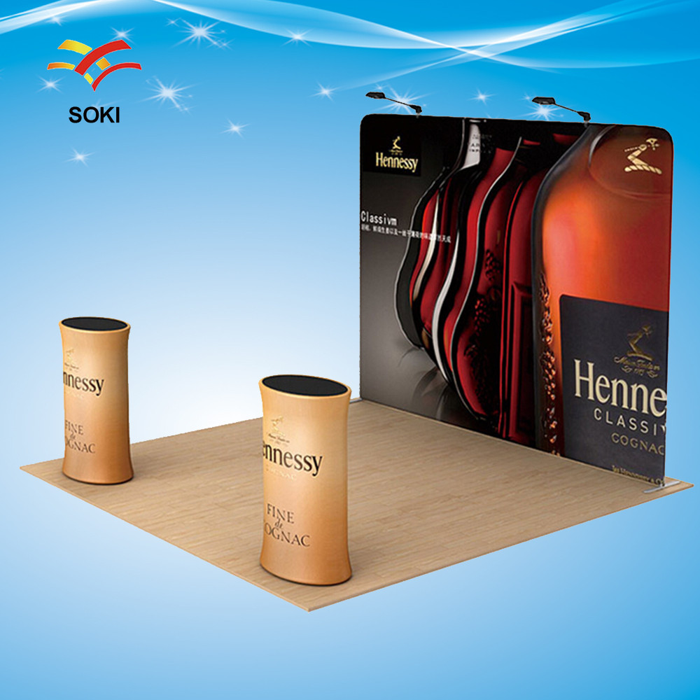 8ft Exhibition Booth Straight Exhibition Display System Stand Banner With Printing(China (Mainland))