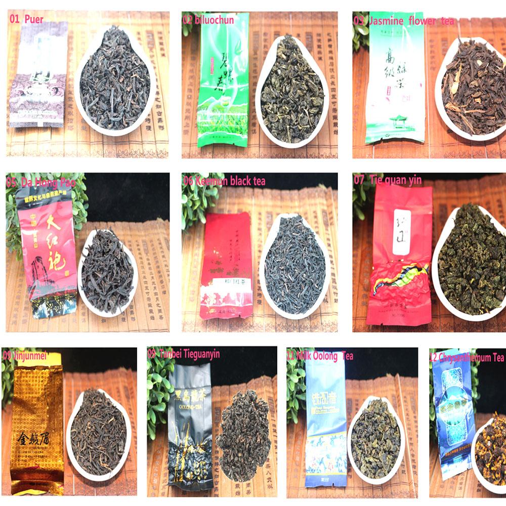 Pu er tea 18 Different Flavor Chinese Tea,Tieguanyin,Dahongpao,Green tea,Ginseng Oolong,Longjing,Oolong tea,Free Shipping(China (Mainland))