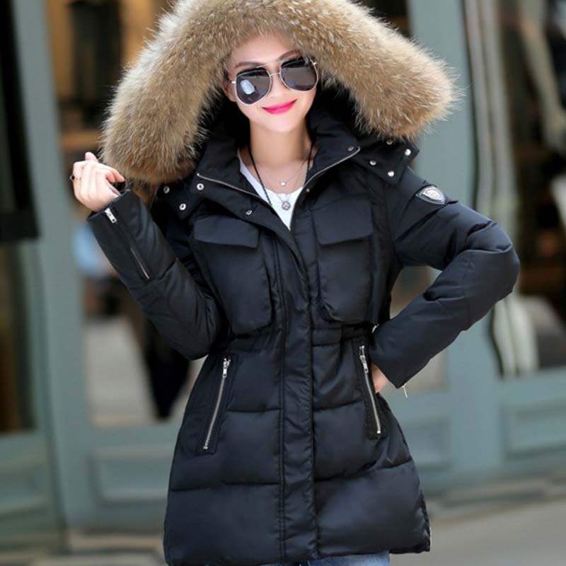 Ladies Coat With Fur Hood - Coat Nj