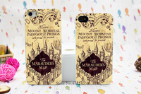 Harry Potter Marauders Map Design Hard White Skin Case for iPhone 5 5s 5g 5th Cover