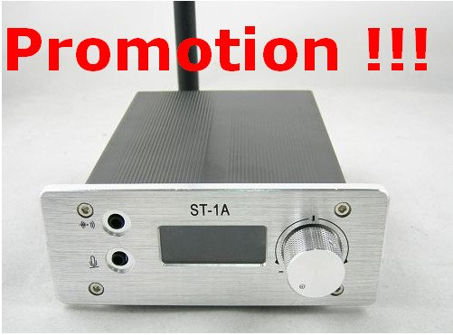 Promotion !!! ST-1A 1W fm stereo PLL transmitter 87-108Mhz + Short antenna + Powersupply KIT only 89USD including shipping cost(China (Mainland))