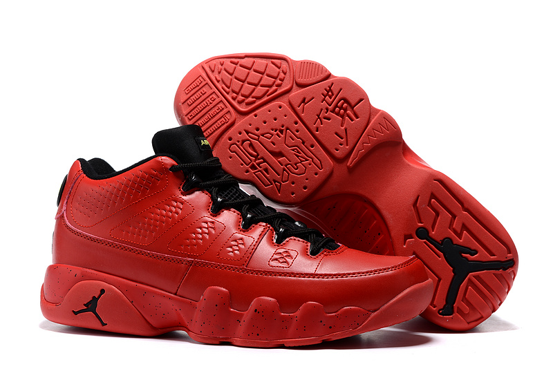 Free shipping new 2016 mens air jordan 9 ix retro low red gold blue black  boots