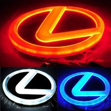 Newest Design Stylish 4D LED Rear logo decoration Light for Lexus LS270 RX450h CT200h EX250 ( Red/White/Blue option )(China (Mainland))