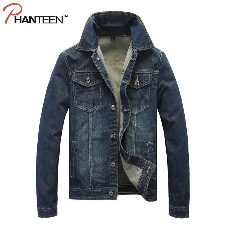 Vintage Washed Man Denim Jakcets Long Sleeve Thicken Streetwear Cowboy European And American Style Fashion Men Jean Outerwear(China (Mainland))