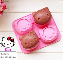 Buy 1pcs Hello Kitty Shape Silicone Cake Mold Chocolate Mold Cupcake Mold High Silicone Cookie Mold for $1.94 in AliExpress store