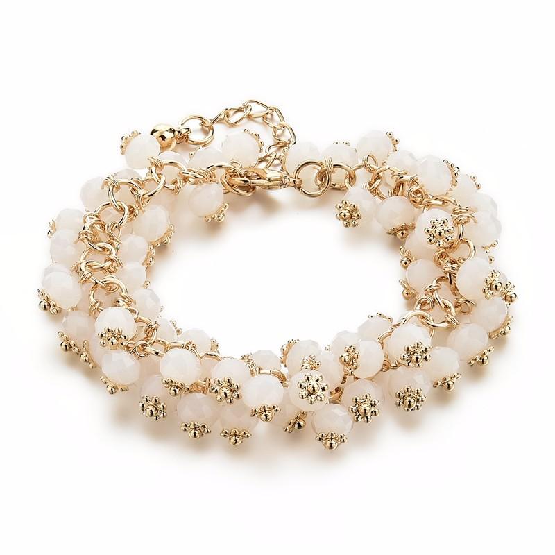 CHICVIE Handmade Gold Crystal Bracelets For Women Girls ... Gold Charm Bracelets For Girls