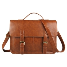 Business briefcase vintage women's shouder bag crossbody bags for women and men messenger bags tote and handbags(China (Mainland))