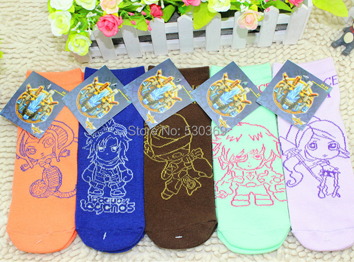 1 Pairs Cute Funny Cartoon Hero League Alliance 5 Color White Blue Cotton Ankle Crew Socks Women Men Couple - Lovely Angel's store