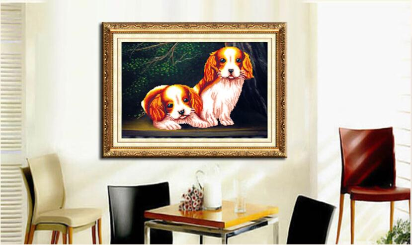 2015 DIY diamond embroidered French DMC home decor diamonds picture diamond embroidery dog free shipping
