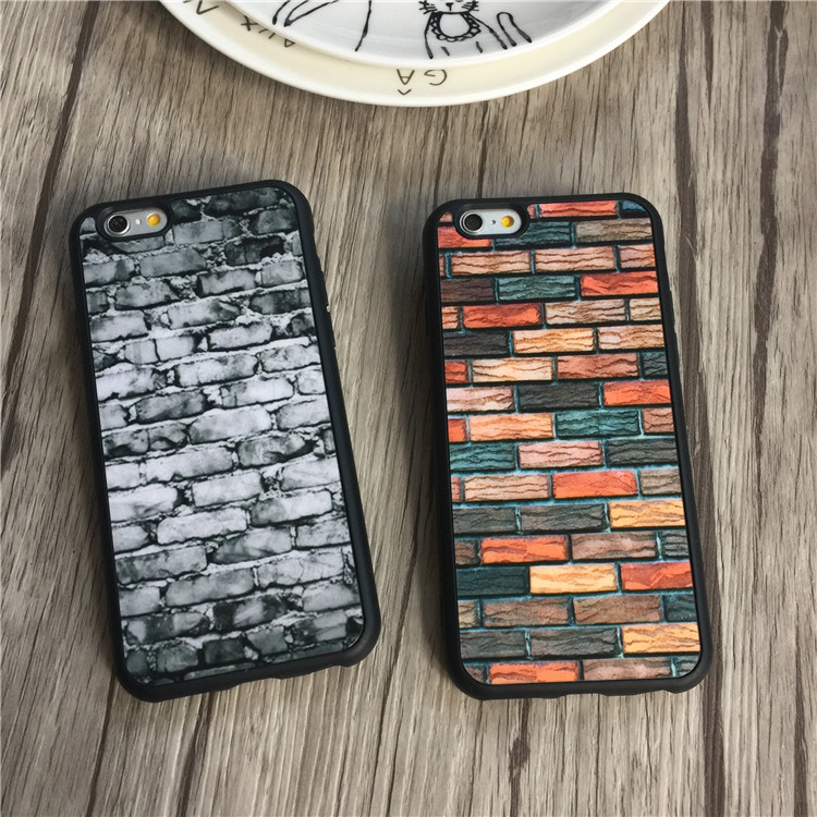 Lover Unique 3D brick Cell Phone Case for iphone 7 6 6s plus 5s 5 SE 5SE Cases Soft Silicone Phone Back Cover Capa Coque Fundas(China (Mainland))