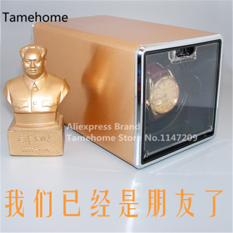 Здесь можно купить  Tamehome Professional Automatic Watch Winder Box Rectangle GOLDEN Watch Winders Auto Watch Tools Simulate Rosewood Piano Lacquer  Бытовая электроника