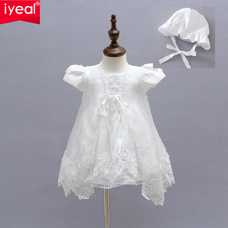 3Pcs/set Baby Girl Christening Gowns Newborn Infant Girl Dresses Infant Princess Girls Party Lace Dress for 1 years Birthday(China (Mainland))
