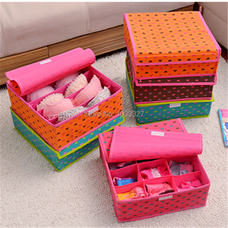 Free shipping Creative drawer style Underwear storage Boxes, Multifunctional Non-woven fabric Storage Bins, Velcro seal(Hong Kong)