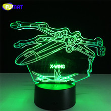 3D Lamp Star Wars Fighter Night Light Bedside Lights Table Lampara With Changeable Night Light Xmas Halloween Gift(China (Mainland))