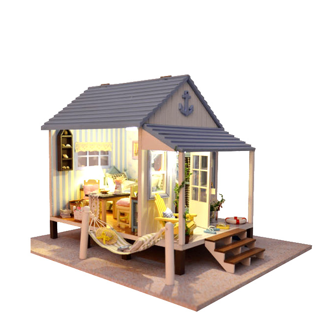 New 3d puzzles doll house lover dream house furniture for Dream wooden house