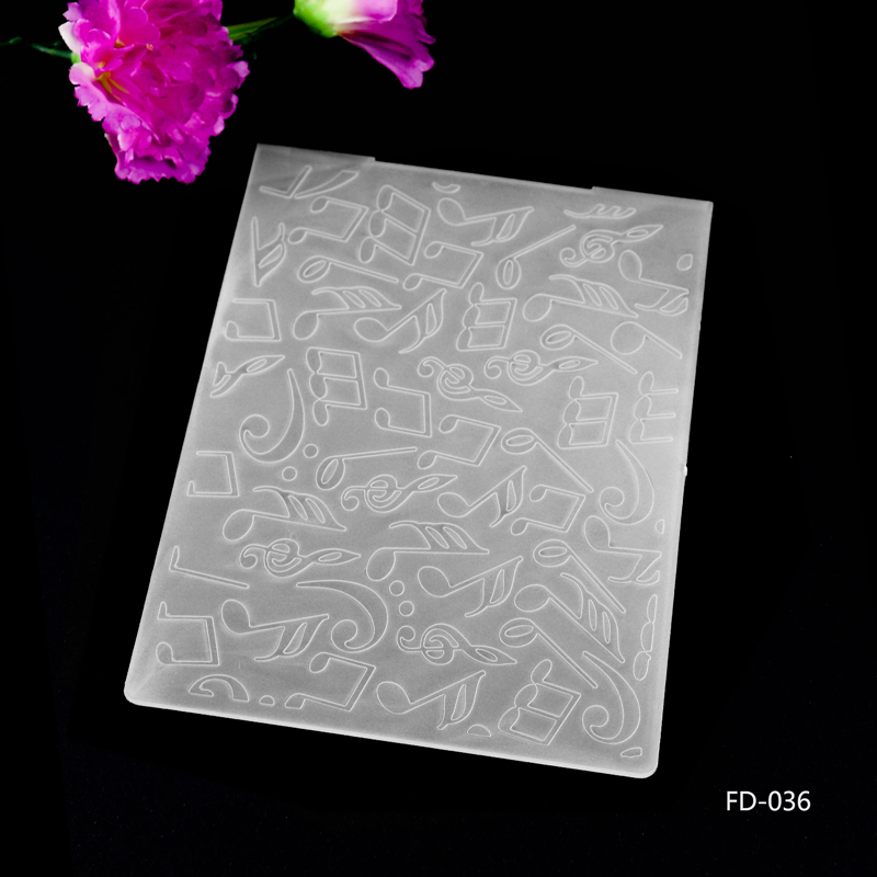 Musical Plastic Embossing Folders for DIY Scrapbooking Paper Craft/Card Making Decoration Supplies