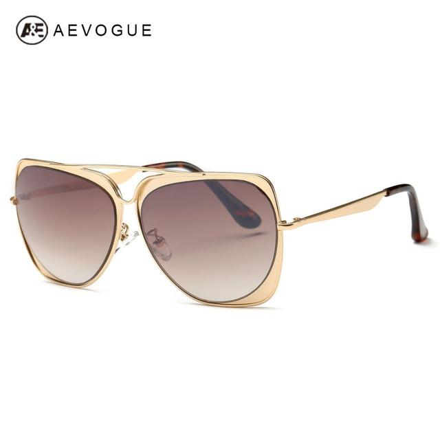 Aevogue очки женщины зеркало очки новинка дамы солнцезащитные очки роскошные солнцезащитные очки модной UV400 AE0347
