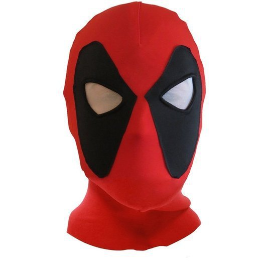 Halloween Deadpool Mask Cosplay Costume Lycra Spandex Mask Red