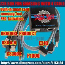 Free shipping Original Z3X Box activated  samsung  activation Z3X PRO  with 4 Cables for c3300k/P1000/USB/E210  update S5,Note4(China (Mainland))
