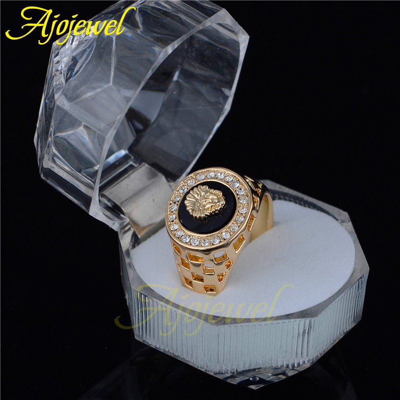 Ajojewel brand designer 7 12 men 39 s jewelry lion ring men for Best mens jewelry sites