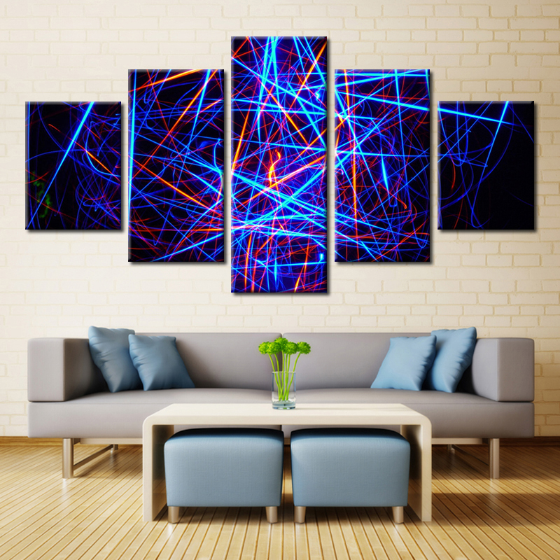 Fashion Artwork Painting Print on Canvas Best Room Decorations Abstract Wall Art Modular Pictures High Quality 5PCS Unframed(China (Mainland))