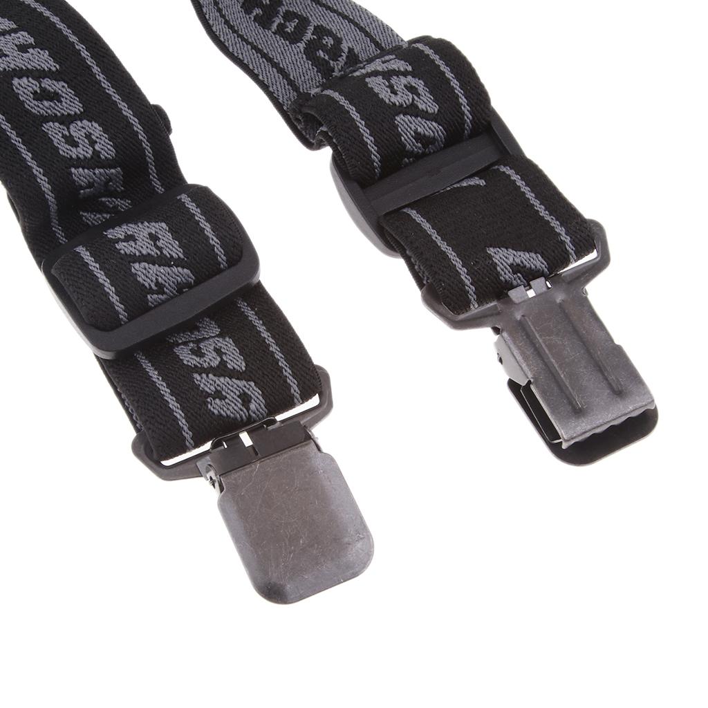 Heavy Duty Braces Suspenders Elastic for Motorcycle Racing Pants Snow Jet Clip-On Adjustable Elastic Suspenders