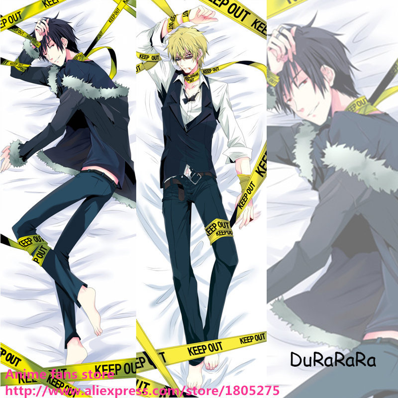 Hot Cool Japanese Anime Pillowcase DuRaRaRa! DRRR Shizuo & Izaya Male decorative Hugging Body Pillow Case Bedding - fans store