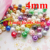 1100pcs/lot multi mixed clour 4mm glass pearl beads christmas ornament loose round beads for jewelry, decoration P01-P19