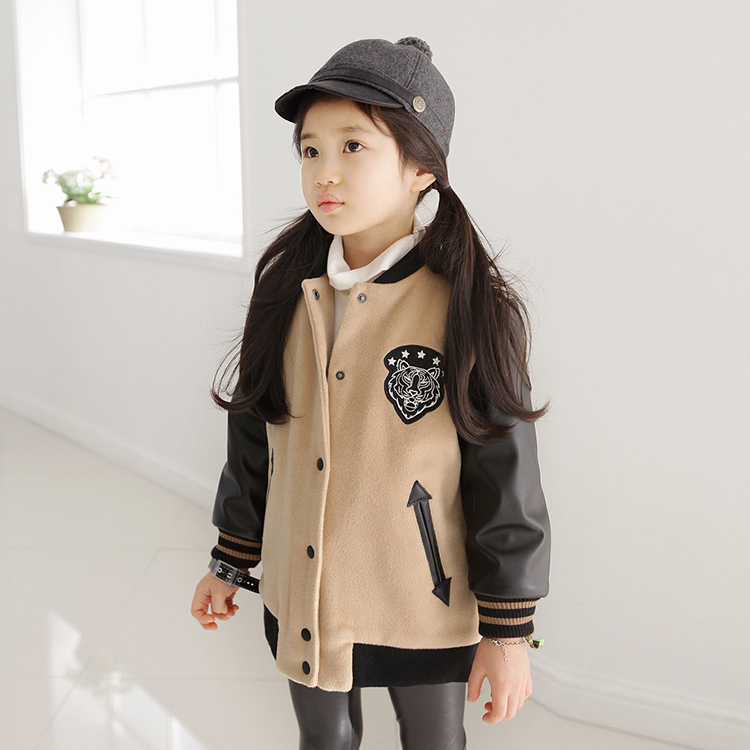 Brand girls winter jackets O-neck leather children outerwear fashion character kids warm jacket for baby girls coats CT-159<br><br>Aliexpress