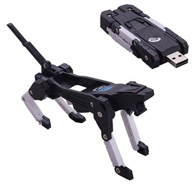 100% Genuine USB Flash Drive cartoon machine Dog robot memory stick funny pen drive 4GB 8GB 16GB 32GB 64G pendrive Free shipping(China (Mainland))