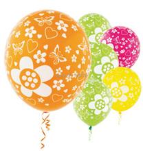 Envío gratis 3.2 g 12 pulgadas 20 unids/pack Floral impresión látex globos de boda habitación matrimonial decoración fiesta de cumpleaños