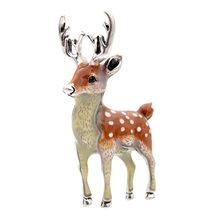 CINDY XIANG 3 Colori Disponibili Carino Piccolo Cervo Spille per Le Donne di Dollari Cervo Sika Animale Spilla Spille Cappotto Accessori Per Bambini regalo(China)
