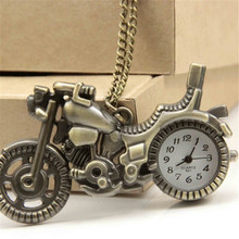 Fashion Motocycle shaped Waterproof pocket watch Unisex Long Chain Retro Pocket&Fob Watches For Kids CC0844