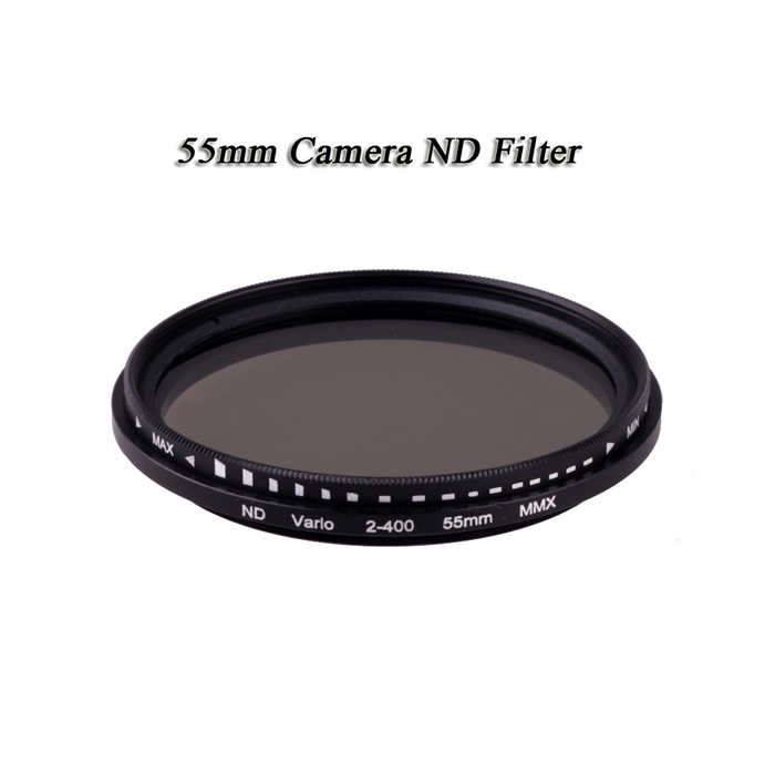 2016 ND Filter 55mm Fader Variable Nd Adjustable Nd2 To Nd400 Neutral Density FreeShipping NDFilter ND2 to ND400 for Canon Nikon(China (Mainland))