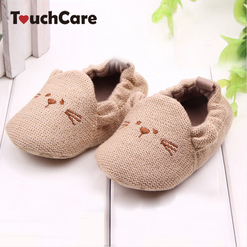 Lovely Baby Boy Girl Knitted Crib Shoes Infant Toddler Newborn Cartoon Elastic First Walkers Soft Slipper Crib Shoes