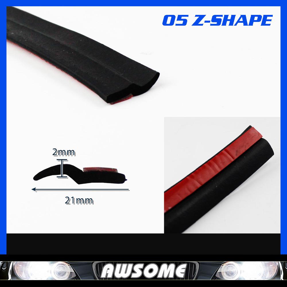 709 18M Z Type Flexibility BLACK Edge Trim Seal Strip Rubber Car Auto Truck Door Window Noise Control Protector Guard Edging<br><br>Aliexpress